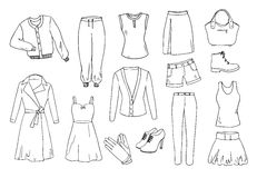 Fashion and clothes set vector illustration