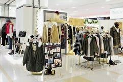 Fashion clothes shop Royalty Free Stock Photos