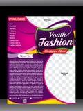 Fashion clothes shop flyer & poster design template Royalty Free Stock Photos