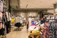 Fashion Clothes Store In Shopping Mall Royalty Free Stock Image