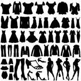 Fashion clothes vector Royalty Free Stock Photography