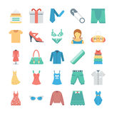 Fashion and Clothes Vector Icons 8 Royalty Free Stock Image