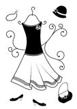Fashion clothes for women Royalty Free Stock Image