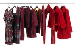 Fashion clothing. Designer fashion clothing hanging as display Stock Image