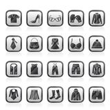 Fashion and clothing and accessories icons Stock Photography