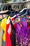Fashion clothing on hangers Royalty Free Stock Images