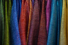 Fashion clothing on hangers Stock Photo