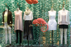Fashion clothing store Stock Photos