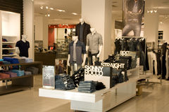 Fashion clothing store stock photography