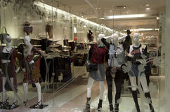Fashion clothing store royalty free stock images