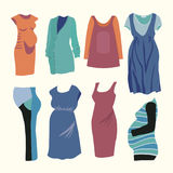 FAshion clothing for stylish Pregnant woman. Royalty Free Stock Photos