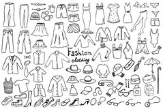 Fashion and clothing vector collection Stock Photo