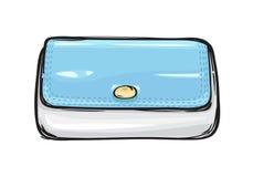 Fashion Clutch Bag or Purse Flat Theme Art Style Royalty Free Stock Image
