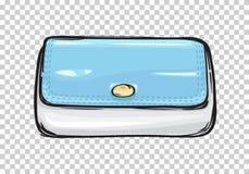 Fashion Clutch Bag or Purse Flat Theme Art Style Stock Photos