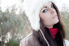 Fashion cold girl Royalty Free Stock Photo