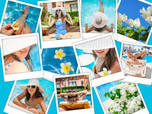 Fashion collage of photos on the theme summer holiday on the beach Stock Photography
