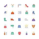 Fashion Colored Vector Icons 3 Royalty Free Stock Photography