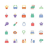 Fashion Colored Vector Icons 7 Stock Photo
