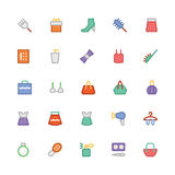 Fashion Colored Vector Icons 6 Stock Images