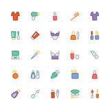 Fashion Colored Vector Icons 8 Stock Photo