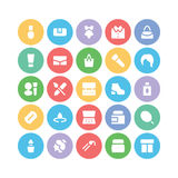 Fashion Colored Vector Icons 5 Royalty Free Stock Photography