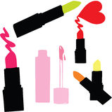 Fashion Colorful Lipsticks Professional Makeup and Beauty Stock Photography