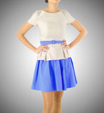 Fashion concept with model on white Royalty Free Stock Image