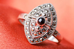 Fashion concept - ring on background Royalty Free Stock Photography
