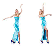 The fashion concept with tall model Royalty Free Stock Image