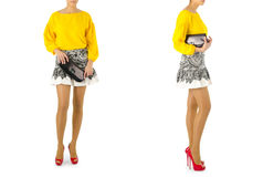Fashion concept with woman clothing Royalty Free Stock Image