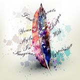 Fashion conceptual background with vector realistic colorful royalty free illustration