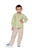Fashion and confident little boy Royalty Free Stock Photography