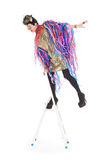 Fashion conscious drag queen Royalty Free Stock Image