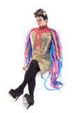 Fashion conscious drag queen Royalty Free Stock Photography