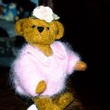 Fashion- conscious girl - Handmade teddy bear, part of  a collection royalty free stock photos