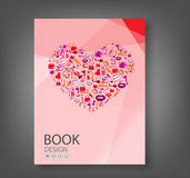 Fashion and Cosmetic, make up and beauty icons and background re Stock Photos