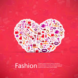 Fashion and Cosmetic, make up and beauty icons Royalty Free Stock Images