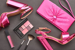 Fashion Cosmetic Makeup. Design Woman Accessories Stock Image