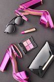 Fashion Cosmetic Makeup. Design Woman Accessories Stock Photography