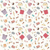 Fashion cosmetic pattern Royalty Free Stock Image