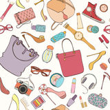Fashion cosmetic pattern stock images