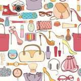 Fashion cosmetic pattern royalty free stock photos