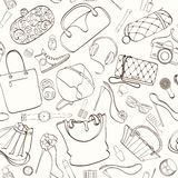 Fashion cosmetic pattern stock photos