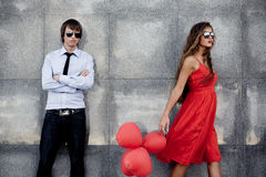 Fashion couple Stock Photos