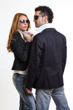 Fashion couple Royalty Free Stock Photography