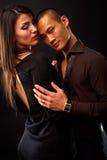 Fashion Couple. Dramatic image shot in studio Royalty Free Stock Photography