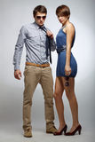 Fashion Couple Royalty Free Stock Images