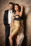 Fashion couple Stock Images