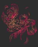 Fashion couple of birds Stock Image