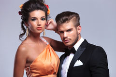 Fashion couple closeup Royalty Free Stock Image